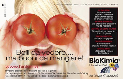 BioKimia International S.r.l. · Pomodoro da mensa